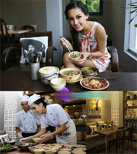 Nhà hàng cơm Việt: Đây vừa là tài sản sinh lợi vừa là tài sản tinh thần của Mai Phương Thúy. Quán cơm của cô tại TP.HCM với những món ăn thường ngày là một nơi ưa thích của giới văn phòng hoặc du khách nước ngoài.