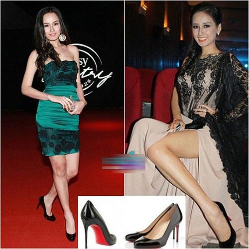Đôi giày Christian Louboutin Fifi màu đen được Mai Phương Thúy vô cùng yêu thích.