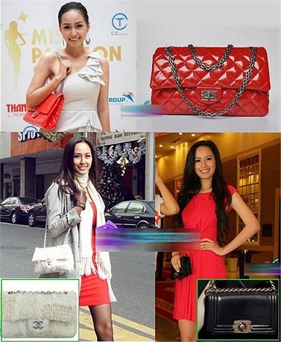 Túi xách: Bộ 3 chiếc túi Chanel nổi tiếng, trong đó chiếc túi Chanel Boy bag màu đen có giá lên tới 3.500 USD (73 triệu đồng).