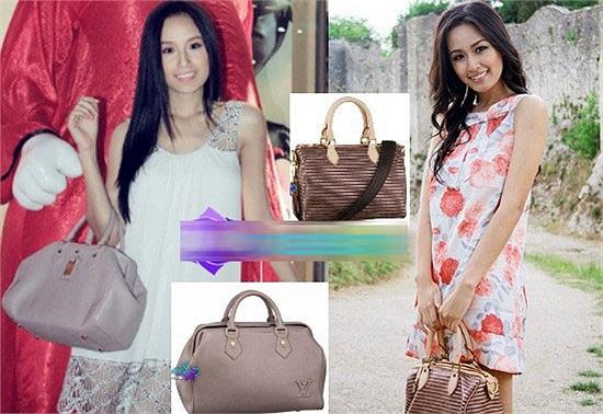 2 chiếc túi của hãng Louis Vuitton cao cấp.