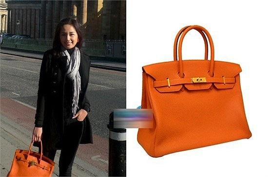 Mai Phương Thuý nổi bật trên đường phố châu Âu với chiếc túi Birkin tone cam nổi tiếng của thương hiệu Hermes.