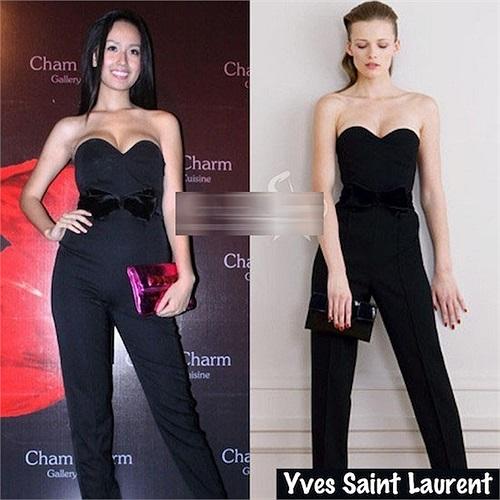 Chiếc Jumpsuit của nhãn hiệu nổi tiếng Yves Saint Laurent.