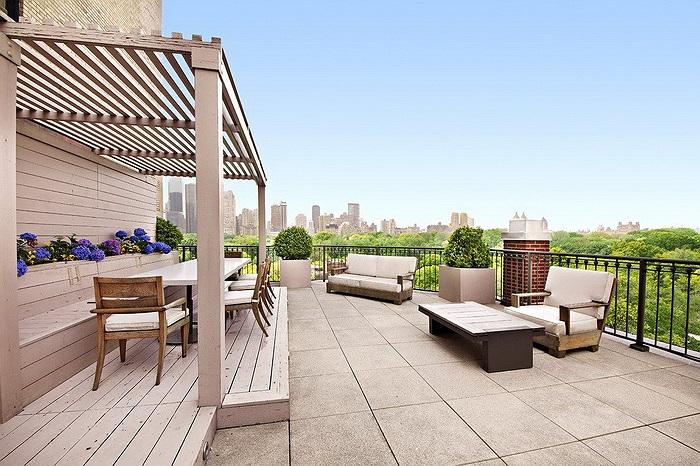 Sân thượng có góc nhìn ra thẳng công viên Central Park