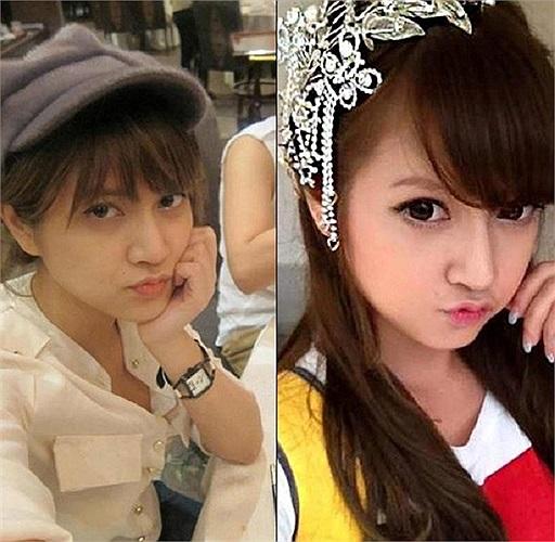 Hot girl Hà Mốc vốn được mệnh danh xinh như búp bê cũng từng khiến nhiều người bất ngờ khi lộ nhan sắc bình thường trước khi make up. Theo Tri thức