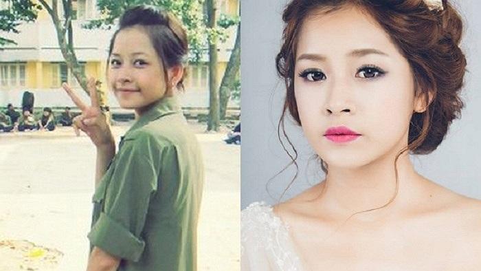 Chi Pu cũng là một trong những hot girl có gương mặt đẹp tự nhiên dù để mặt mộc hay đã qua trang điểm. Trong nhiều trường hợp, trang điểm đậm lại khiến Chi Pu kém xinh hơn.