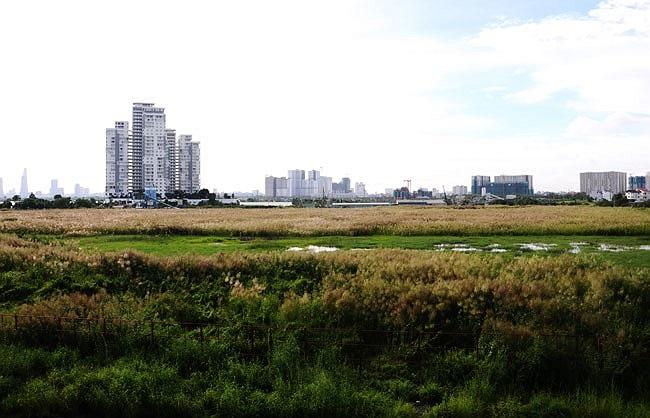 Dự án khu đô thị Phường Bình Trưng Tây Q2, trong đó có lô 1256 của công ty Quốc Cường Gia Lai thuộc dự án nhà ở đảo Kim Cương Q2, TP HCM