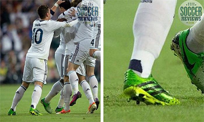 Ozil khi còn khoác áo Real thường hay ra sân với đôi giày này