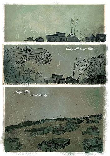Gần đây, cộng đồng mạng liên tục chia sẻ với nhau những bức hình cảm động của Thăng Fly về hình ảnh miền Trung oằn mình trong cơn lũ dữ