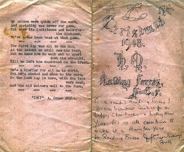 Thiệp mừng Giáng sinh năm 1943 của các binh sĩ SBS