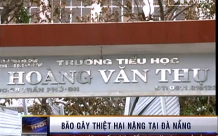 Theo ông Lê Trung Chính - Giám đốc Sở GD-ĐT Đà Nẵng, hiện vẫn chưa có con số thống kê chính xác về thiệt hại do cơn bão gây ra đối với ngành GD-ĐT Đà Nẵng. (Ảnh: VTV)
