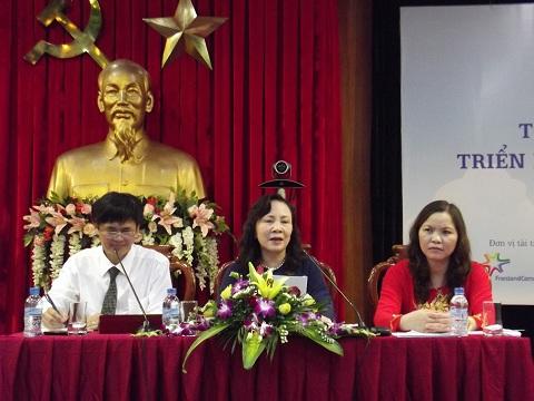 Thứ trưởng Bộ GD-ĐT Nguyễn Thị Nghĩa tại lễ phát động cuộc thi
