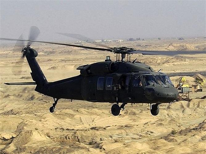Black Hawk, loại trực thăng phổ biến nhất của quân đội Mỹ và đã từng xuất hiện trên các tác phẩm điện ảnh nổi tiếng