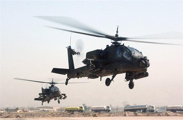 Cuối cùng trong danh sách là trực thăng vũ trang Apache của Mỹ, với hỏa lực cực mạnh và khả năng phòng thủ không hề đơn giản