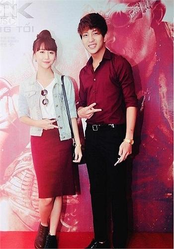 Quỳnh Anh Shyn và bạn trai Bê Trần tại một sự kiện.