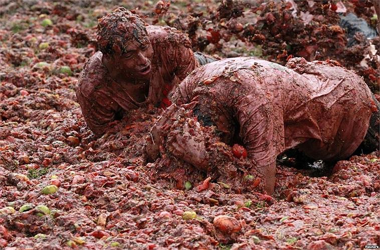 Lễ hội cà chua ở tỉnh Sutamarchan, Colombia