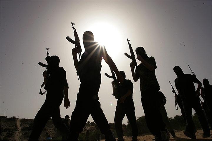 Các tay súng Palestine ở thị trấn Rafah, Dải Gaza