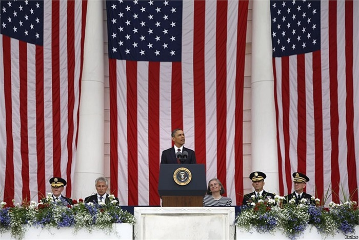 Tổng thống Mỹ Barack Obama phát biểu tại Nghĩa trang Quốc gia Arlington, Virginia, Mỹ