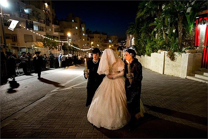 Đám cưới cháu trai của ông Belz Rebbe,người đứng đầu cộng đồng Do Thái Hassidic lớn nhất ở Jerusalem, Israel