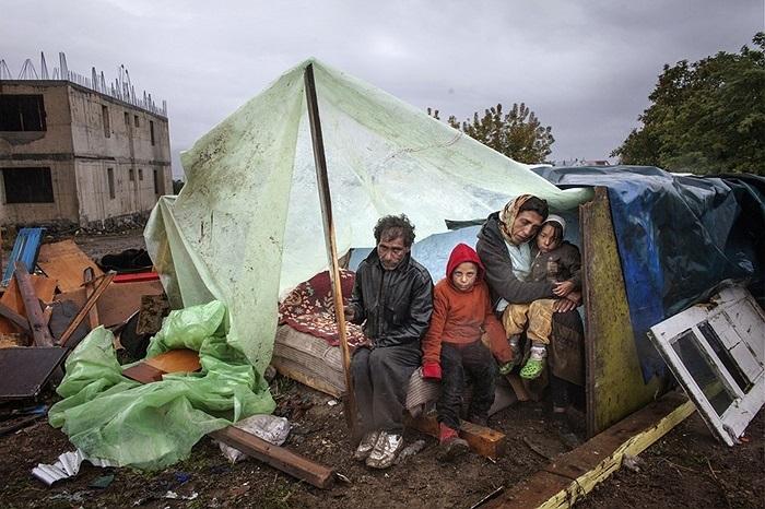 Những người vô gia cư ở Eforie, Romania