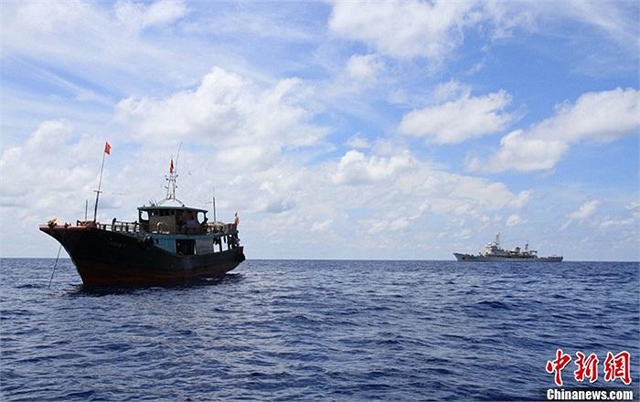 Tàu Ngư chính 311 có trọng tải 4.450 tấn, tốc độ tối đa là 20km/h