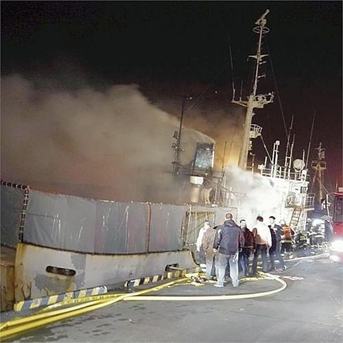 Đám cháy xảy ra lúc 1h45' (giờ địa phương) tại cảng Wakkanai, phía bắc đảo Hokkaido. Tàu gặp nạn treo cờ Campuchia