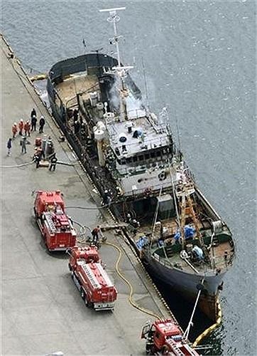 Khi xảy ra tai nạn trên tàu có 23 thủy thủ người Nga và Ukraine