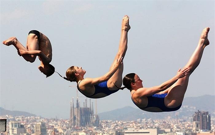 Thợ lặn luyện tập chuẩn bị cho giải vô địch thế giới FINA tại Barcelona, Tây Ban Nha