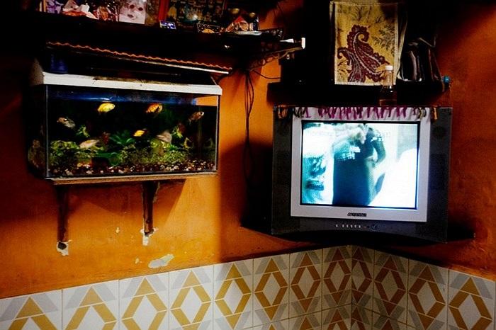 Có ti vi và bể cá được xem là tiêu chí gia đình khá giả ở làng ven biển Mumbai