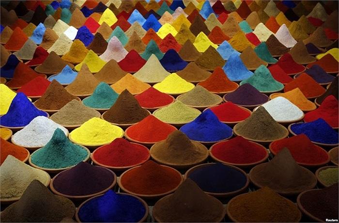 Đây là một phần của tác phẩm nghệ thuật sắp đặt mang tên 'màu sắc' ở Venice, Italy
