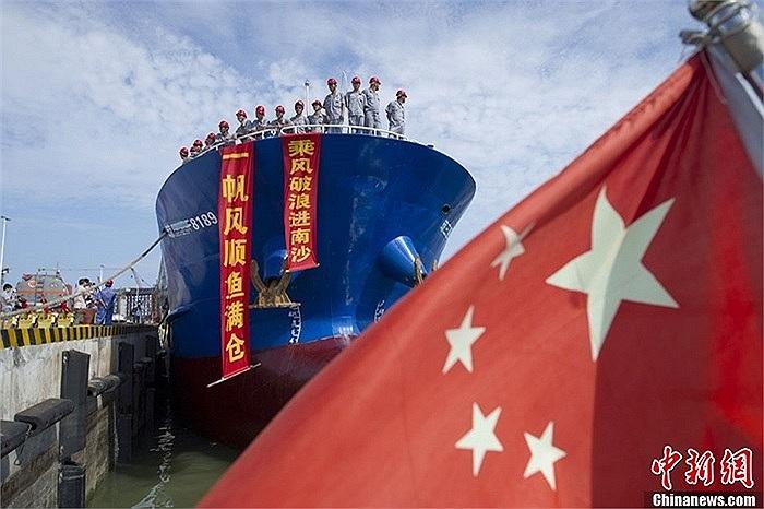 Đội tàu cá Trung Quốc dự kiến đánh bắt trái phép trong vùng biển Trường Sa khoảng 40 ngày