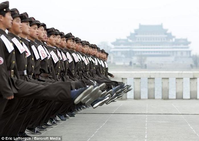 Khoảnh khắc luyện tập của các binh sĩ Triều Tiên