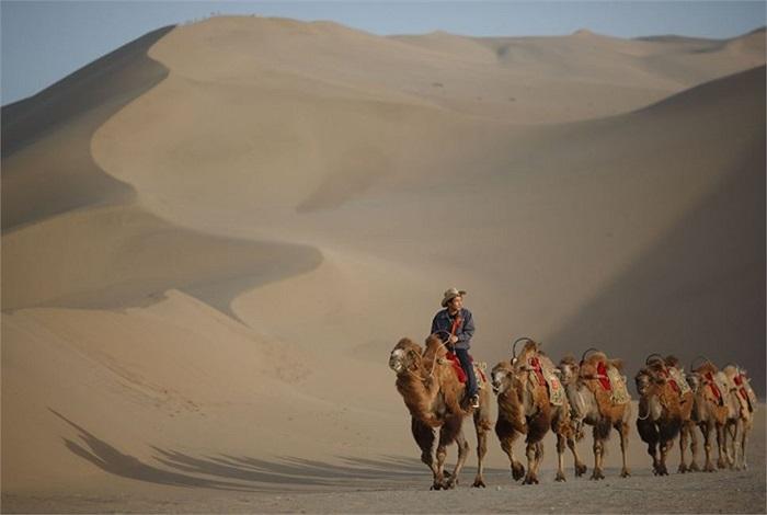 Chính phủ Trung Quốc đã đưa ra một loạt kế hoạch để chống sa mạc hóa cho ốc đảo tí hon này