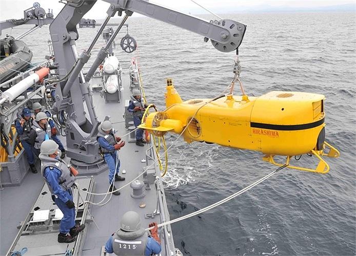 Tàu ngầm phát hiện và xử lý bom mìn, ngư lôi trên biển của Nhật Bản