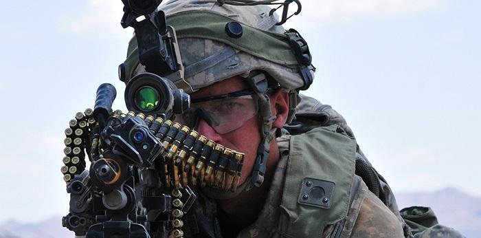 Binh sĩ Mỹ trong một cuộc luyện tập tại khu vực tên lửa White Sands, New Mexico, Mỹ