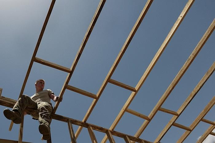 Binh sĩ Mỹ xây dựng nhà ở tại Ghazni, Afghanistan