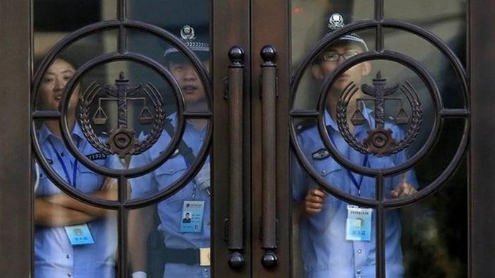 An ninh tại tòa án xét xử Bạc Hy Lai ở Tế Nam, Sơn Đông