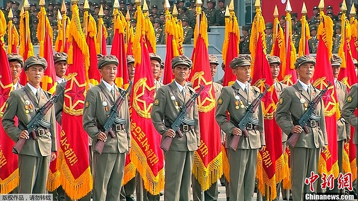 Triều Tiên tổ chức duyệt binh kỷ niệm 65 năm ngày thành lập