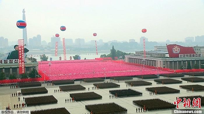 Toàn cảnh lễ kỷ niệm 65 năm ngày thành lập CHDCND Triều Tiên tại Bình Nhưỡng