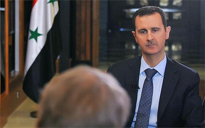 Tổng thống Syria Bashar al-Assad cho một cuộc phỏng vấn trên kênh truyền hình CBS của Mỹ