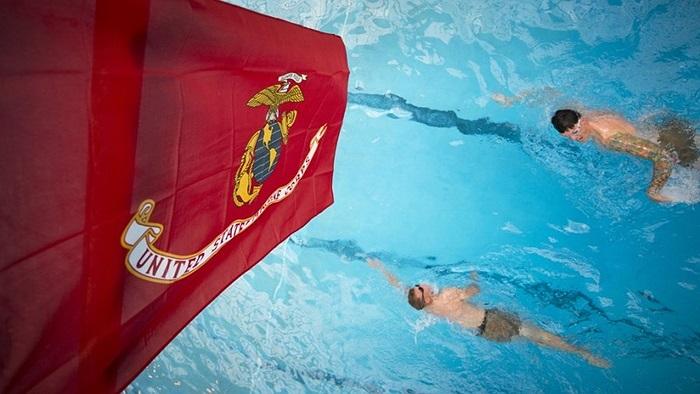 Bài kiểm tra tiếp theo là bơi 500m với mỗi học viên