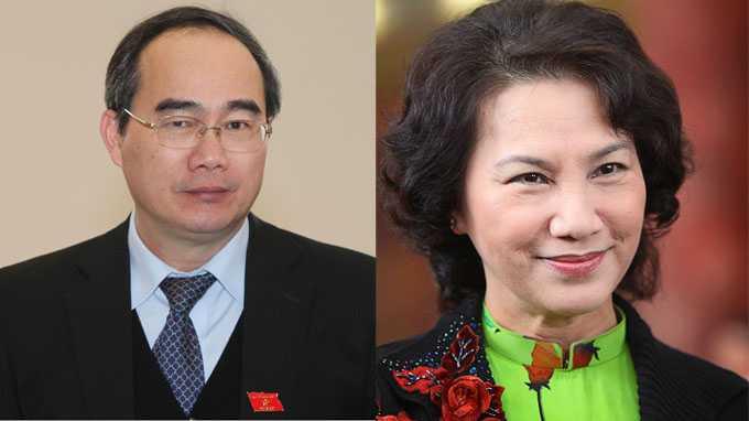 Phó thủ tướng chính phủ Nguyễn Thiện Nhân và phó chủ tịch Quốc hội Nguyễn Thị Kim Ngân
