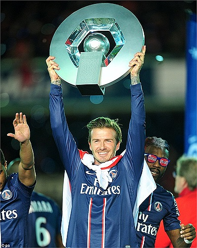 Sự nghiệp của Beckham kết thúc hoàn hảo với chức vô địch Ligue I