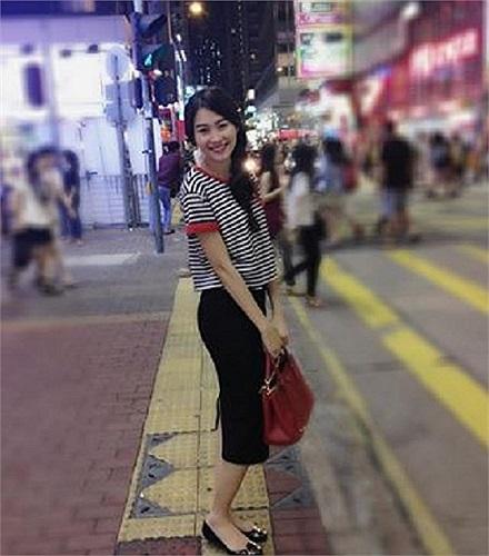 Hoa hậu Thu Thảo mặc đồ dễ thương.