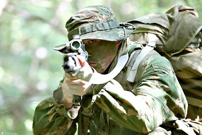 Binh sĩ Trung đoàn biệt kích dù số 45 của Nga