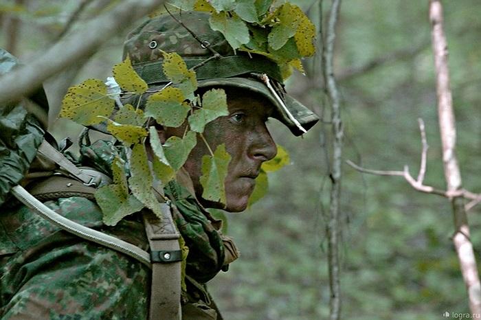 Các chiến binh di chuyển trong im lặng và hòa mình vào rừng