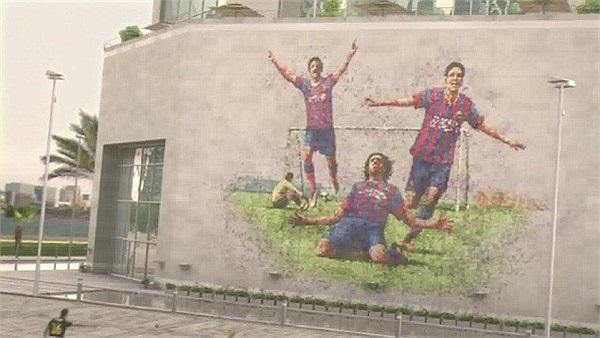 Tác giả bức tranh tường này là Iniesta