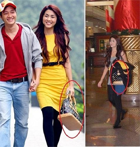 Chiếc túi LV xuất hiện cùng Tăng Thanh Hà trong nhiều sự kiện có giá hơn 50 triệu đồng.