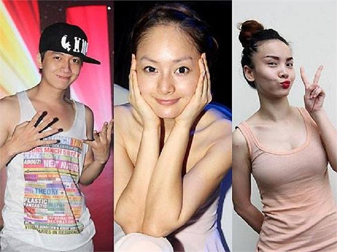 Ngô Kiến Huy, Lan Phương, Yến Trang trong đêm chung kết Bước nhảy hoàn vũ 2013.