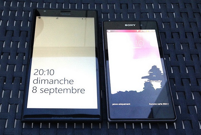 Lumia 1520 so dáng cùng Xperia Z1