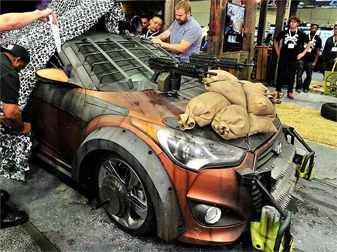 Xe được độ dựa trên cảm hứng từ bộ phim kinh dị 'The Walking Dead' (xác chết di động).